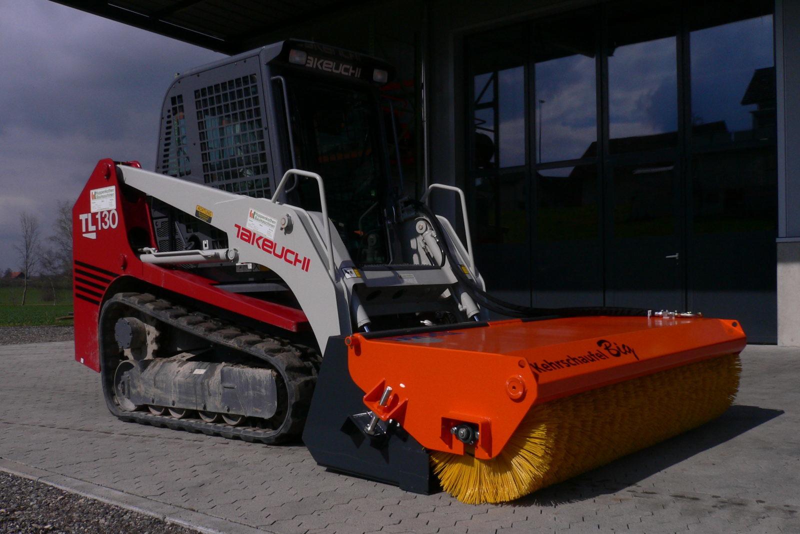 Tuchel Sweep BIG sweeper attachment for loaders, excavators, tractors and skid steers