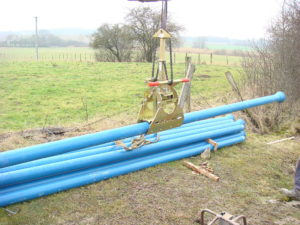 Probst Round Grab RG-8/40 for pipe installation