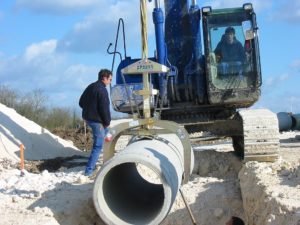 Probst Round Grab RG-20/80 for pipe installation
